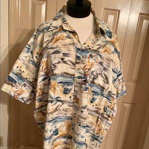 Shirts - Men's Hawaiian Style Leisure Shirt